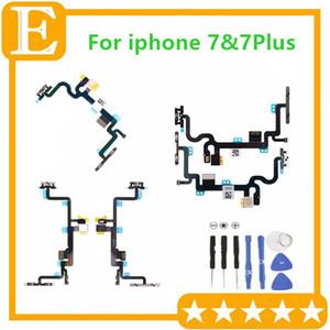 Güç Ses Düğmesi Dilsiz Anahtarı Kapalı Flex Kablo Ile Metal Dirsek iPhone 7G Için 4.7 '' 7 Artı 5.5 '' Yedek Parçalar