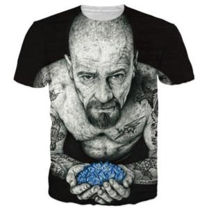 Breaking Bad Novas Mulheres / Mens Heisenberg Mangas Curtas T-shirt de Impressão 3D Engraçado Verão Casual T-shirt Top Tees Mais S-5XLKK31