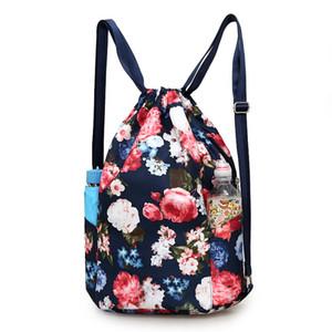 2017 Novas mulheres mochila cordão saco de viagem portátil dobrável ao ar livre saco de bagagem oxford moda mochila à prova d 'água