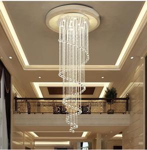 Lámparas de araña de cristal en espiral modernas Escaleras de iluminación Lámparas de araña GU10 Accesorios de iluminación colgante para comedor Interior Deco