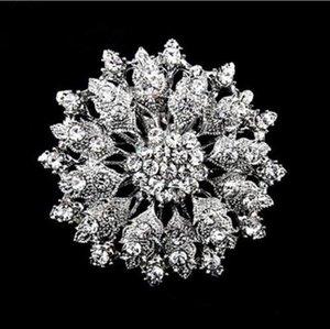 """Vintage-Stil 2,1 """"Rhodium Silber Kristall Diamante Brosche"""