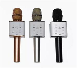 Hot sale Q7 Handheld Microphone Bluetooth Wireless KTV With Speaker Mic Microfono Handheld Loudspeaker Portable Karaoke Player