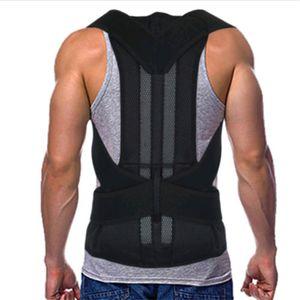 Heavy Duty fuerte ajustable de apoyo trasero Corrector de Postura espalda correa de soporte espalda Straightener espinal Corrector Hombres / Mujeres