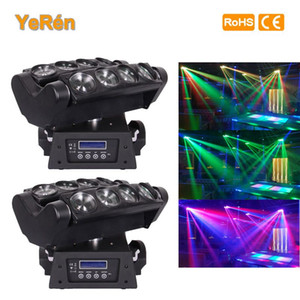 (2 STÜCKE) 8 * 10 Watt Led Spinne Strahl Moving Head Licht Weiße LED DMX Bühne Lichteffekt Disco Party DJ Show