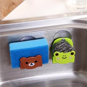 Милый Каваи мультфильм медведь настенный тип ванна ящик для хранения KitchenTools губка слив держатель для хранения полки стеллажи Бесплатная доставка