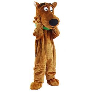 Nuovo cane di Scooby Doo del costume della mascotte di formato adulto del vestito operato di Natale il trasporto libero