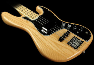 Custom Natural Marcus Miller Signature 4 String Jazz Electric Bass Guitar Maple Neck,Block Position Markers 3-bolt Micro-Tilt Neck Joint