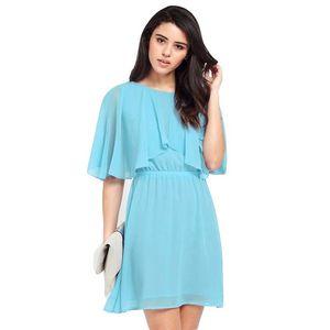 Plus Size 6XL Donna Chiffon Dress Summer Spring grande allentato O-Collo Solid Womens Black Blue Sexy Club Evening Party Dress