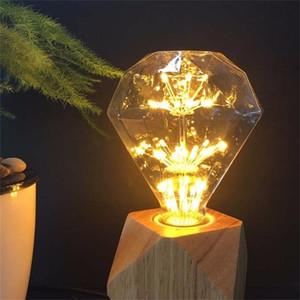Урожай E27 110-220V 3W Энергосберегающие светодиодные Firework Edison Starry Sky Light Алмазный Лампа для Кафе Бар Ресторан Магазин одежды украшения