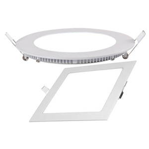 Competitive price New square led recessed panel lamp aluminum plastic ceiling panel with 4w 6w 9w 12w 18w AC85-265V