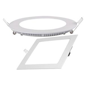 precio competitivo Nuevo cuadrado LED empotrado panel de panel de techo plástico de aluminio con lámpara de 4W 6W 9W 12w 18w AC85-265V