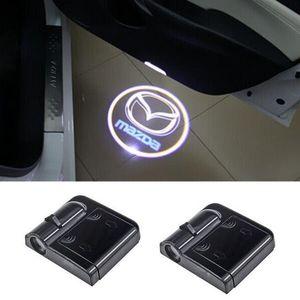 Mazda 3 spoiler Için LED Araba kapı logosu projektör ışıkları 6 atenza cx-5 2 mx5 626 cx7 rx8 demio cx3 mx3 axela 323f