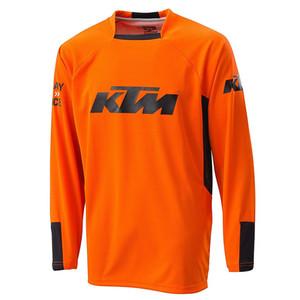 كي تي إم يقود دراجة طويلة كم جيرسي حبل Ciclismo Maillot Men's Outdoors MTB Running Bicycle New T-Shirt Riding Bike Clothes Sportwear