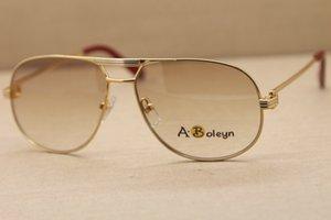 Завод оптовой 1038366 Полный кадр очки металла Бесплатная доставка Высокое качество Классические Пилотные Солнцезащитные очки вождение Размер: 59-12-140mm