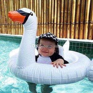Baby Swimming Ring Dount Asiento Inflable Flamingo Swan Pool Float Baby Summer Water Diversión Pool Juguete Niños nadando en la piscina