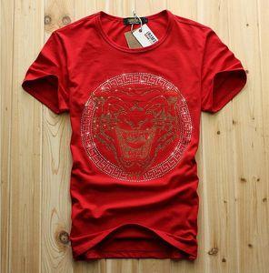 Magliette di moda da uomo di lusso con design a diamante e magliette da uomo magliette divertenti da uomo in cotone di marca 658