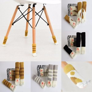 Wholesale 1 PCS Knitted Non-slip Cat Claw Chair Table Legs Sleeve Cover Furniture Leg Socks Floor Protectors