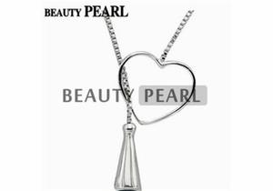 5 pièces en argent sterling 925 chaîne en forme de coeur chaîne pendentif collier de montage bijoux collier vierges pour perles