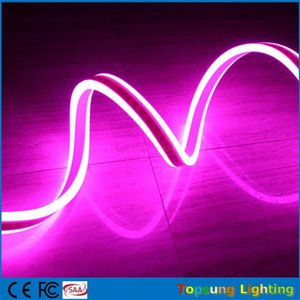 20 m carrete 8 * 18 mm comercial rosa impermeable IP75 de doble cara emitiendo luces de neón mini tira de neón flexible 12V 24V para la decoración