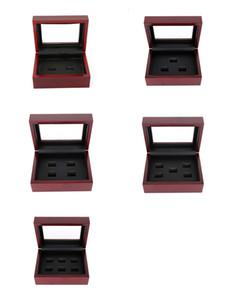 12 * 16 * 7cm joyería Cajas Paquete clásico de madera caja de presentación caja de recuerdo poroso rectángulo para los anillos campeonato o regalo multi-estilo B005 opcional