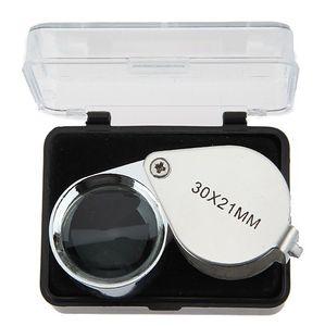 30X bijoutier loupe loupe 21mm lentille loupe microscope pour bijoutier diamants poignée portable lentille de Fresnel