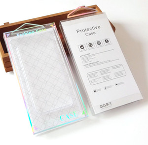 300pcs all'ingrosso di modo trasparente scatola di imballaggio in pvc trasparente per cellulare pacchetto della cassa del telefono cellulare per iphone 7 7plus cassa del telefono