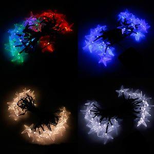 Yıldız LED Renkli Işıklar Dize Açık Işıklar Güneş Dize Büyük Denizyıldızı Şekilli Kapakları