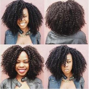 Charmante Simulation de perruque courte Courbée Simulation Humain Courbis Courby Perruques pleines pour femmes noires Livraison gratuite en stock