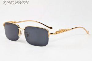 2020 Retro Mens polaroid Sonnenbrillen für Frauen kühlen Gold-Silber-Leopardenmuster Metallrahmen randlos schwarz braun clear lens fashio