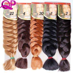 "1pc Kanekalon Xpressions Braiding Hair Extensions 82"" Box Braid braids Kanekalon Jumbo Braid Hair Bulks African Braids Hair Pieces For Women"