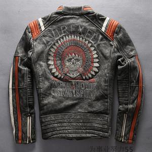 AMERICAN MOTOR JACKET AVREXFLY Harley-motorcycle جاكيتات جلدية Harley مع أعلى درجة بقرة جلد اصلي