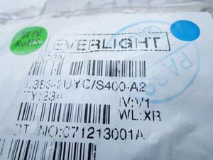 Diodo emissor de luz de Taiwan 5mm LED everlight contas de faróis amarelos