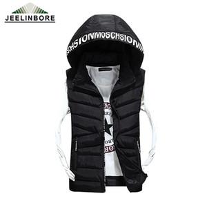 Wholesale- Hot Sale Loves  New Arrival Slim Man Vest 2016 Autumn Winters Hooded Cotton Padded Men's Fashion Vests 3 Colors 6 Size