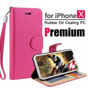 Yüksek Kaliteli PU deri Kart Yuvası Cüzdan Telefon Kılıfı Vintage Retro çevir Kickstand iPhone X 8 5s 6s için kılıflar artı iple 7 7plus