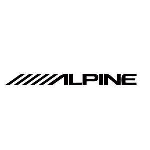 Крутая графика Alpine Автомобильная акустика стерео Творческий автомобилей Стайлинг усилитель Звуки винила Декаль наклейки Автомобильные аксессуары Графика JDM