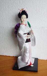 Figurine Figure de poupée Kimono Kabuki Kabuki Geisha en gros pas cher