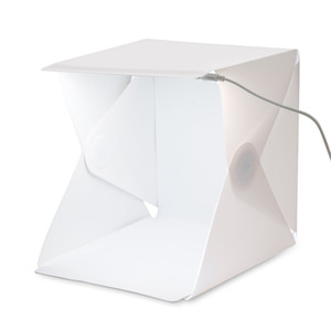 Mini Photo Studio Led Light Room Foldable Shooting Tent Photography Lighting Tent Kit with White and Black Backdrop Lightbox