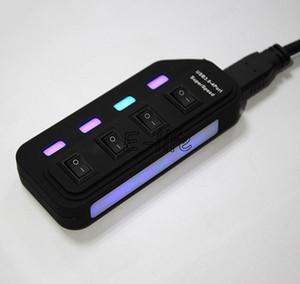 Neue externe USB Hub 4 Ports USB 3.0 Hub 5 Gbps Geschwindigkeit für PC Laptop mit On / Off-Schalter