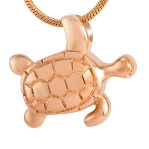 Collar colgante de la cremación del acero inoxidable de la tortuga Pet Ashes Keepsake Urn Necklace Joyería fúnebre