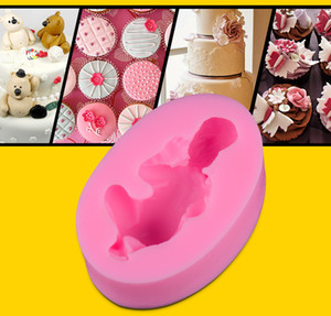 3D Sleeping Baby Mould para Cake Decoration / Cookware Dining Bar Antiadherente herramienta de cocina molde de chocolate