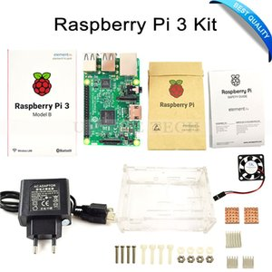 Бесплатная доставка Raspberry Pi 3 модель B доска + Raspberry Pi3 чехол + вилка (ЕС США) + радиаторы