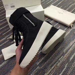 Haute qualité TOP Owen La peur de bottes de l'armée de Dieu Kaki Sneaker militaire Noir Hight Hommes crainte de Dieu Top Chaussures Hommes Bottes Livraison gratuite