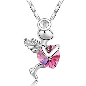 Heart Lady Fashion Jewelry Necklace Pendant Made With Crystals from Swarovski Elements Bijoux Women Gift 2214