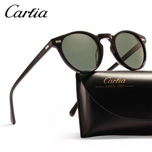 Polarize güneş gözlüğü kadın güneş gözlüğü carfia 5288 oval tasarımcı güneş gözlüğü erkekler için UV koruma acatate reçine gözlük kutusu ile 3 renkler