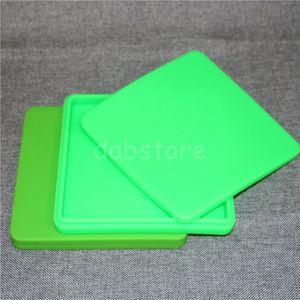 Beliebte Antihaftwachsbehälter jar flaches Silikon BHO Behälter Wachs Ölkonzentratbehälter Pizzabox Für Dab oder Wachs