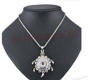 Нуса Куски Кнопка Turtle ожерелье Мода защелкивающийся 18MM Имбирь женщин с Rhinestone ювелирных изделий Snap кнопки Нуса-подарок для 20M NMDP