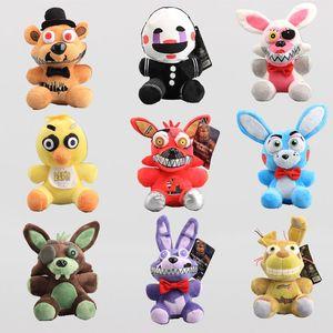 8inch 20cm 9pcs / Lot Fünf Nächte im Freddy FNAF Fox Bär Bonnie Plüsch-Puppen Plüschtiere Spielzeug NOOM007