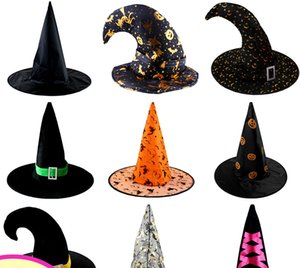 Halloween party accessories all kinds of Witch hat for show party adult cosplay free shipment Festive & Party Supplies