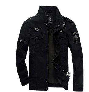 Plus Size Roupas Homens Jaquetas Do Exército Casaco de Inverno Quente Casacos de Outono Bordado de Lã Grosso Casaco Roupas para Masculino