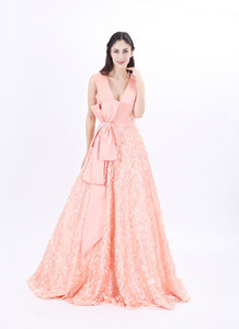 Modabelle Women's A Line Evening Dresses Advanced Customization 3D Printed Flowers Prom Dresses Formal Long Party Dress
